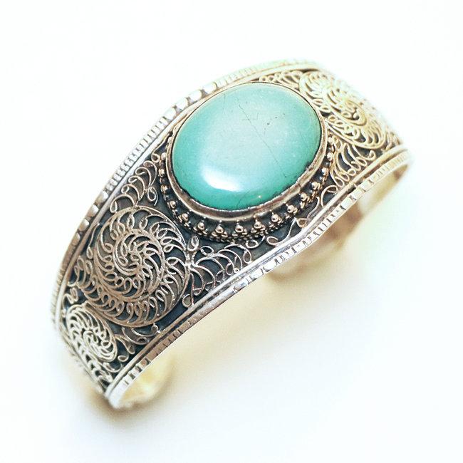 bracelet argent turquoise homme