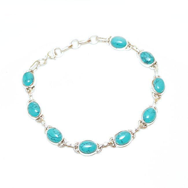 bracelet argent turquoise femme