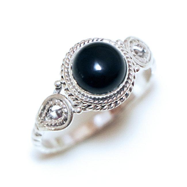 bijoux femme argent et pierre ronde