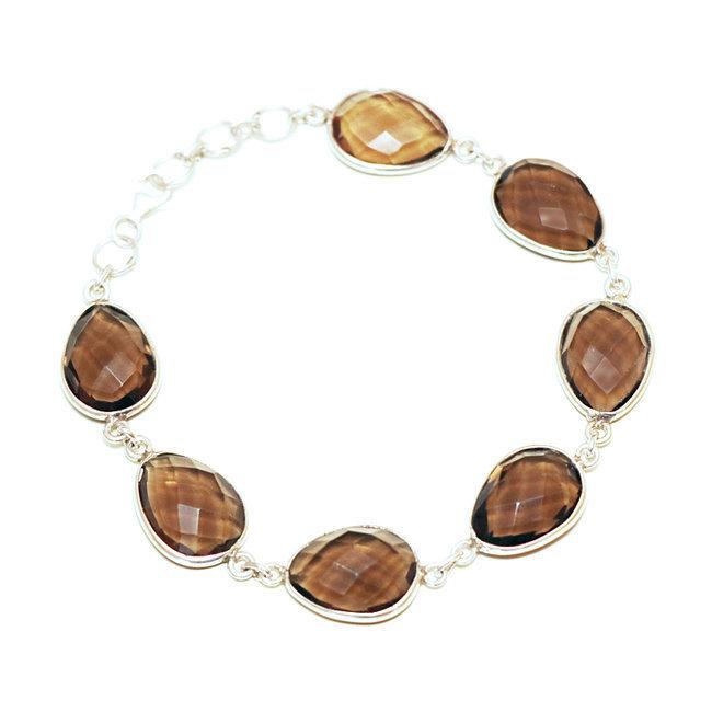 8e25e75b6154e Bijoux Indiens Ethniques bracelet argent 925 chaîne pierre fine rang ...