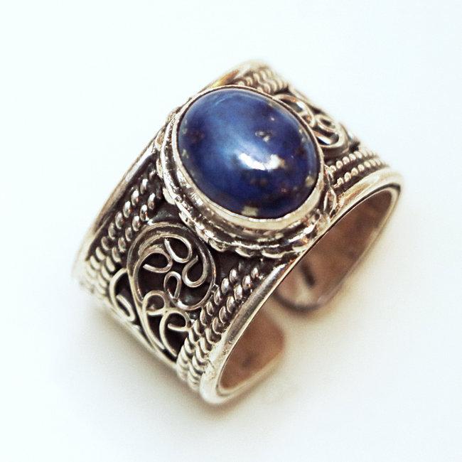 bague argent lapis lazuli femme