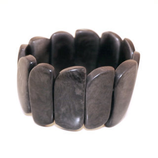 Bracelet cuervas gris foncé - Tagua and Co 001