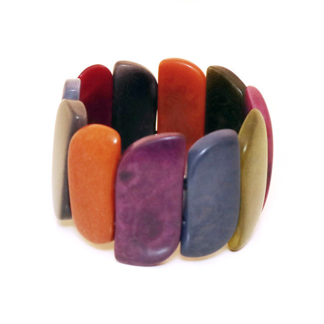 Bracelet manchette cuervas multicolore otono - Tagua and Co 001