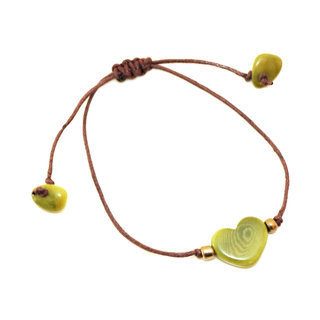 Bracelet valentino pistache - Tagua and Co 002