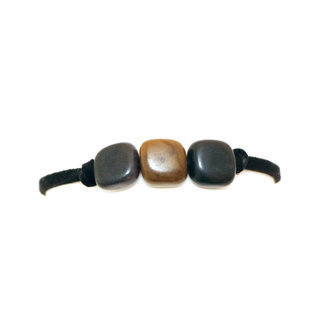 Bracelet muchas gris et bronze - Tagua and Co 003