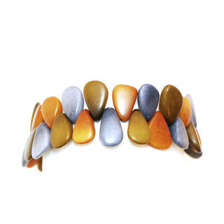 Bracelet tessa ardoise, bronze et jaune - Tagua and Co 005