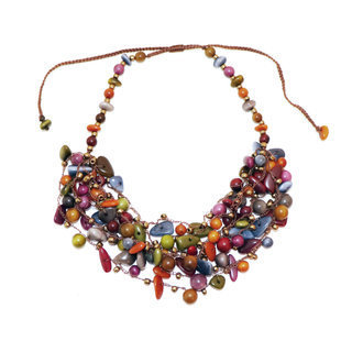 Collier magda multicolore otono - Tagua and Co 002