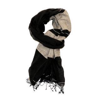 -50% Echarpe foulard en soie et coton Sofia noir or - Dana Esteline ... 05b44537732