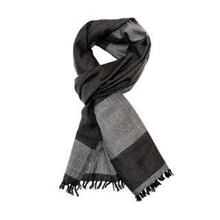 -60% Echarpe chèche foulard en laine mérinos noir Bachi - Dana Esteline 002 252bccee93b