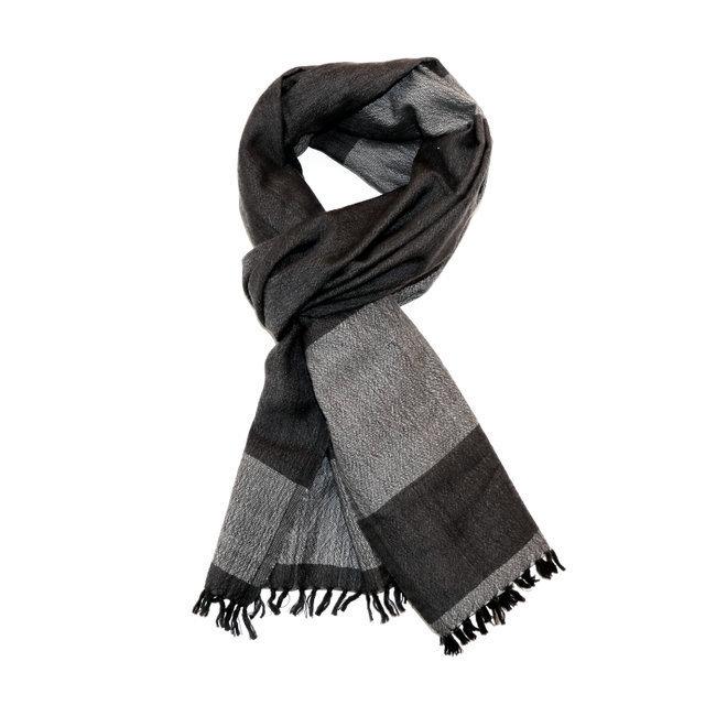 239b23e6a63 Echarpe chèche foulard en laine mérinos Bachi noir - Dana Esteline 002