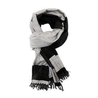 -60% Echarpe étole foulard en laine mérinos noir gris Bachi - Dana Esteline  002 c03960ba8eb
