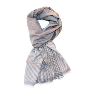 -40% Echarpe chèche foulard en laine 100% mérinos gris Eban - Dana Esteline  007 2ee1cff6a1f