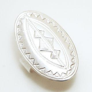 -50% Bague touareg large ovale réglable argent 925 - Niger 050 be15fc940cb