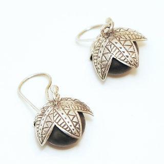 Boucles d'oreilles pendantes en bois
