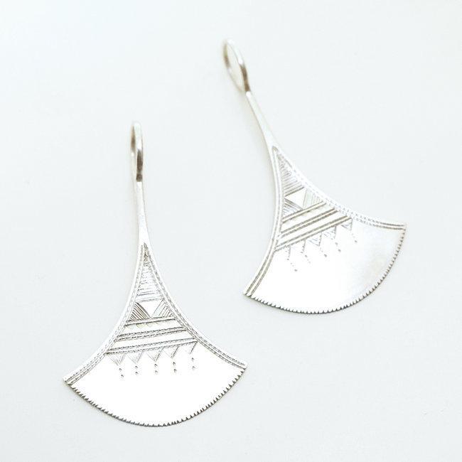 de style élégant comment choisir factory Boucles d'oreilles touareg pendantes shat-shat argent 925 - Niger 051
