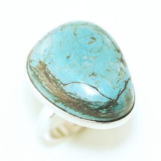 -30% Bague druzy argent 925 et Turquoise brute naturelle - Népal 080 5c4bdda9fe1