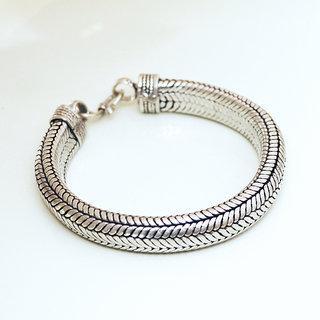 plus de photos f3151 1f6dd Bracelets Snake pour Homme, Chaînes en Argent Massif Ethniques