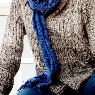 -60% Echarpe chèche foulard en coton Yeshi bleu foncé - Dana Esteline 018 3d19e0f640e