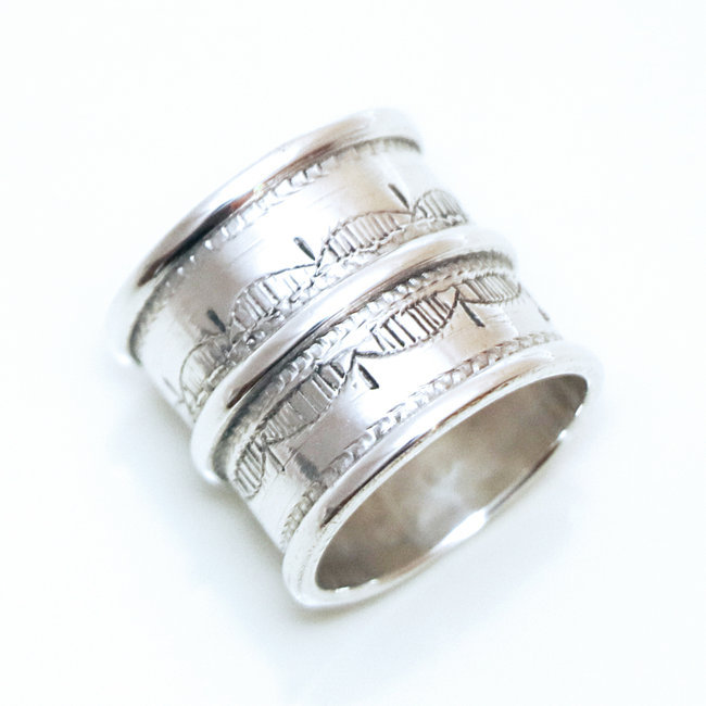 bague homme large or