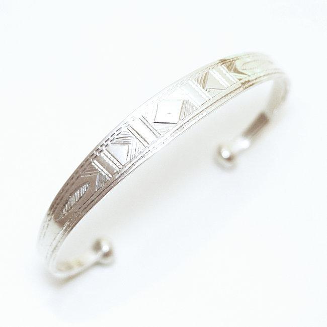 acheter populaire 89ea1 6c4d4 Bracelet touareg argent 925 gourmette jonc plat - Niger 062