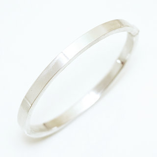 Bracelet jonc ouvrable section rectangle argent 925 - Inde 021