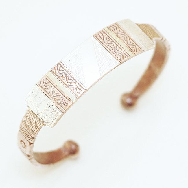 bracelet argent cuivre bronze