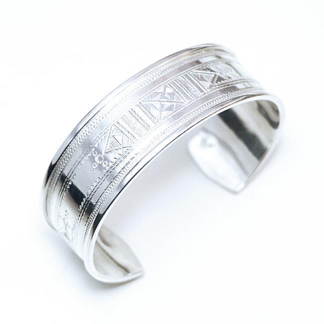 bracelet argent massif femme
